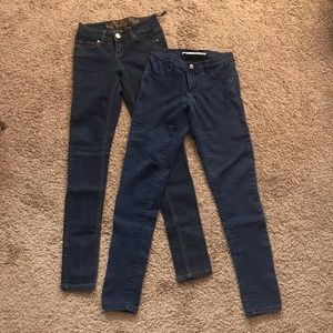 ZARA demin long trousers for two